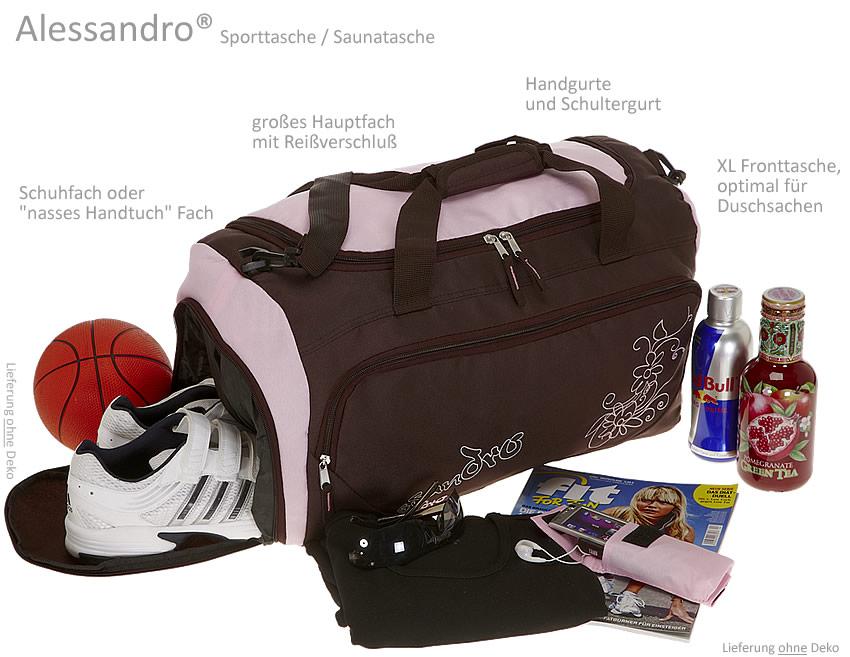 saunatasche alessandro sporttasche reisetasche neu rosa ebay. Black Bedroom Furniture Sets. Home Design Ideas