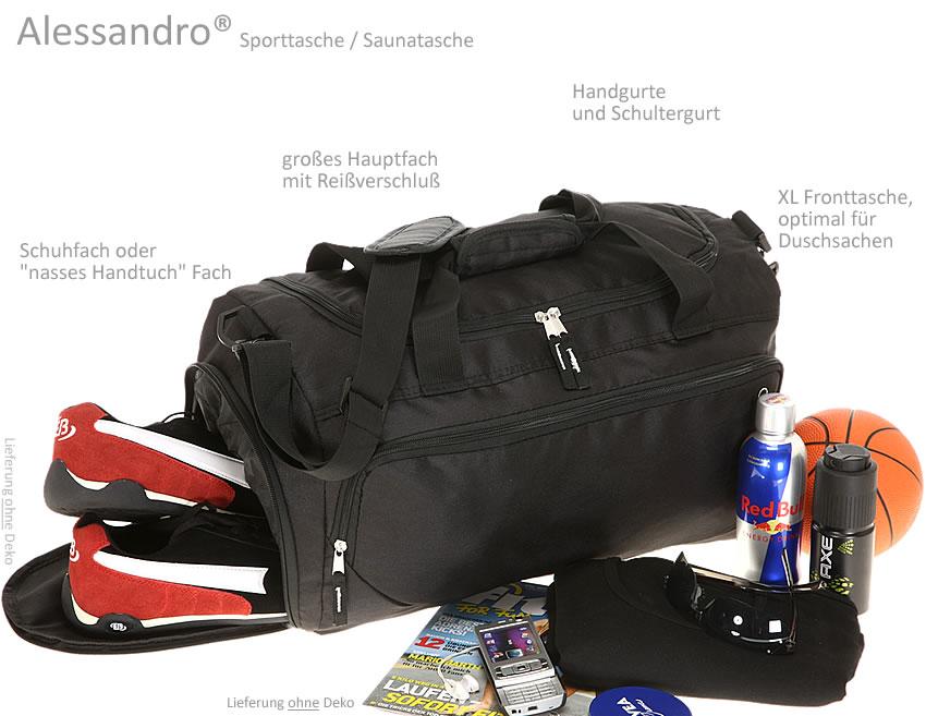sporttasche alessandro saunatasche reisetasche fitness. Black Bedroom Furniture Sets. Home Design Ideas