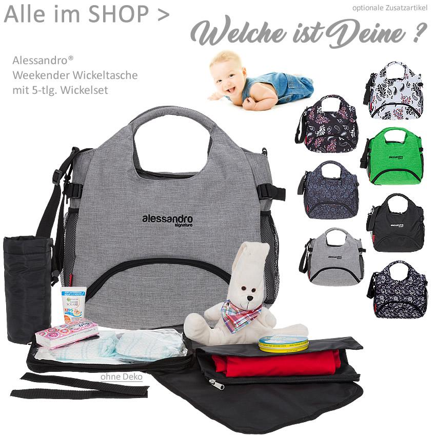 Black Flower Alessandro Baby Wickeltasche Weekender Bag inkl Wickelmatte Windeltasche Thermo-Flaschentasche Fixierung 1004