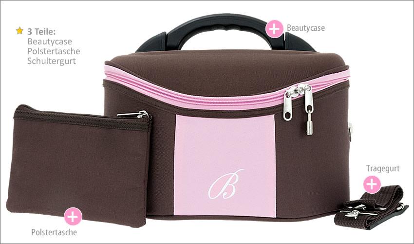 beautycase kosmetik koffer beauty case girls schminkkoffer. Black Bedroom Furniture Sets. Home Design Ideas