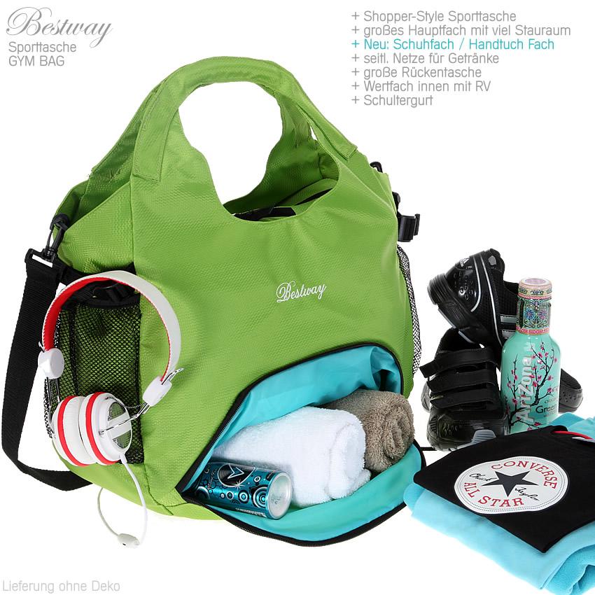 set sporttasche bestway gym bag shopper sportshopper. Black Bedroom Furniture Sets. Home Design Ideas