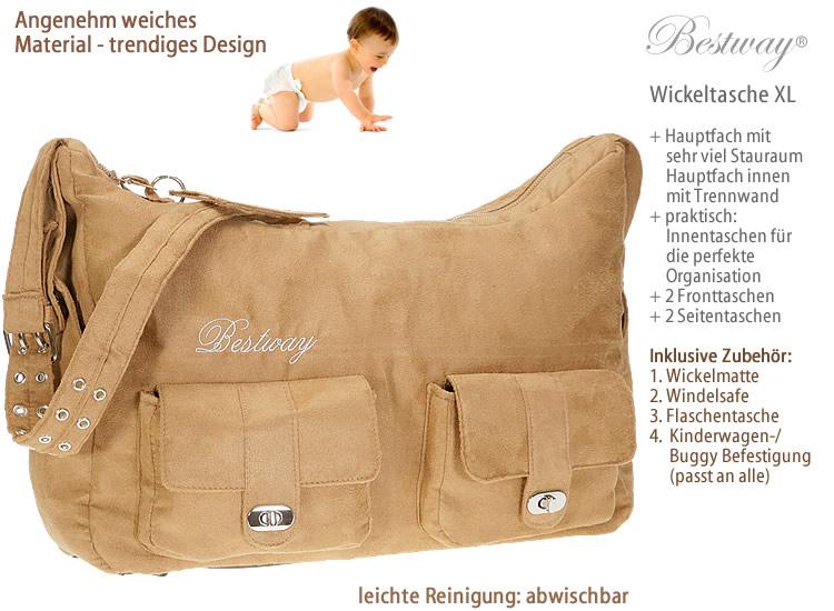 baby wickeltasche schwarz