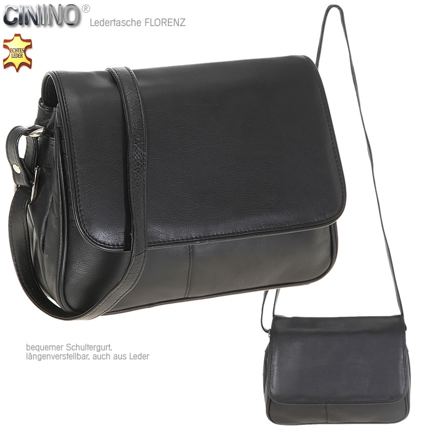 handtasche cinino florenz ledertasche damenhandtasche leder umh ngetasche black ebay. Black Bedroom Furniture Sets. Home Design Ideas