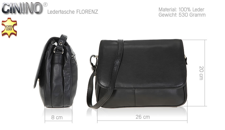 handtasche cinino florenz ledertasche damenhandtasche. Black Bedroom Furniture Sets. Home Design Ideas