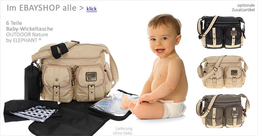 6 Teile Wickeltasche ALESSANDRO FLEUR Babywickeltasche Baby Tasche Shopper SC 6