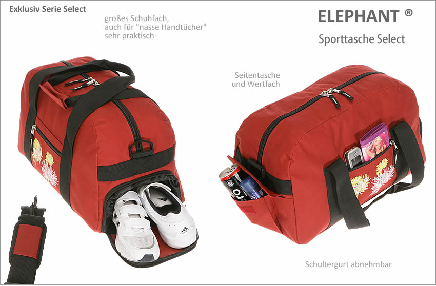 sporttasche elephant select sport tasche schulsporttasche. Black Bedroom Furniture Sets. Home Design Ideas
