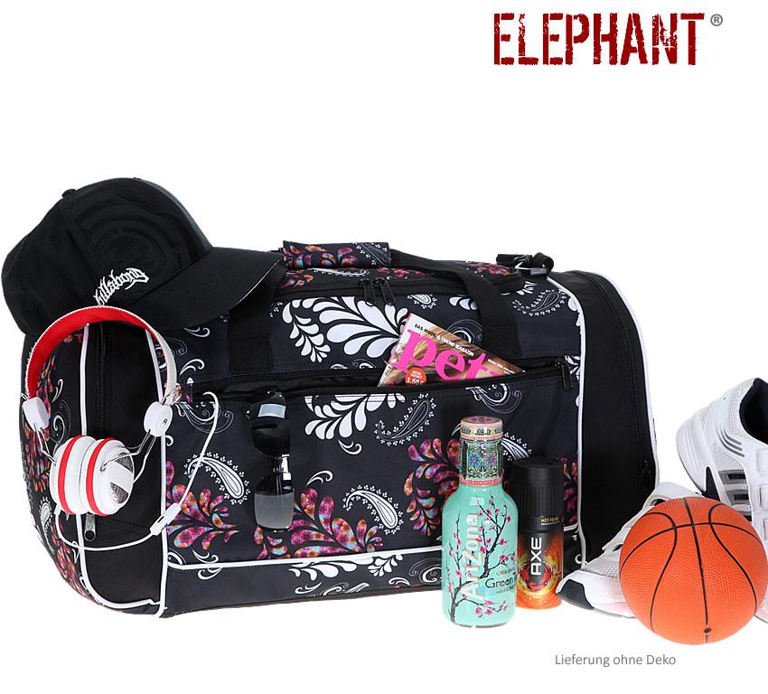 sporttasche floral elephant xl 60 sport tasche sportsbag. Black Bedroom Furniture Sets. Home Design Ideas