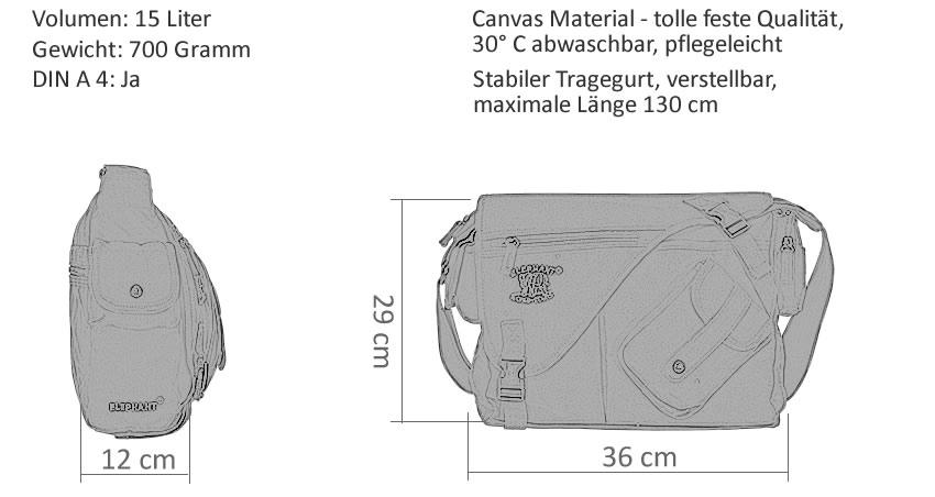 6T SET Wickeltasche CANVAS ELEPHANT Babywickeltasche Umhängetasche 3520 NATURE