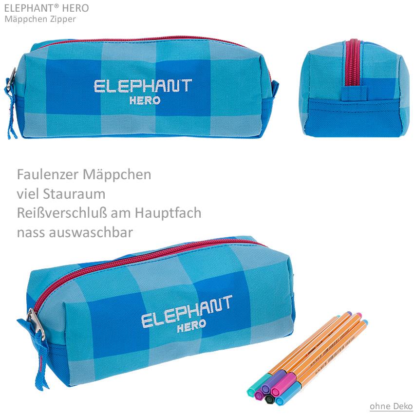 Zipper Mäppchen ELEPHANT HERO SIGNATURE Schlamper Faulenzer Schülermäppchen WAHL