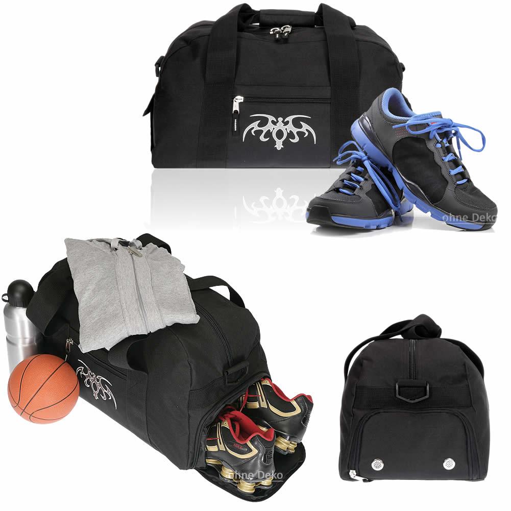 Sporttasche Elephant Schule Fitness Kindertasche Jungen Bag 11490 Tattoo Schwarz
