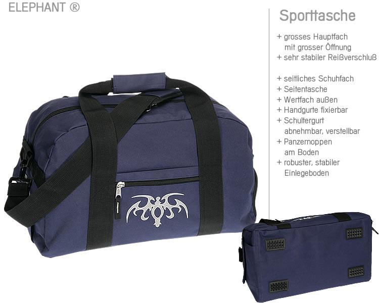 sporttasche elephant tattoo sport tasche schulsporttasche. Black Bedroom Furniture Sets. Home Design Ideas