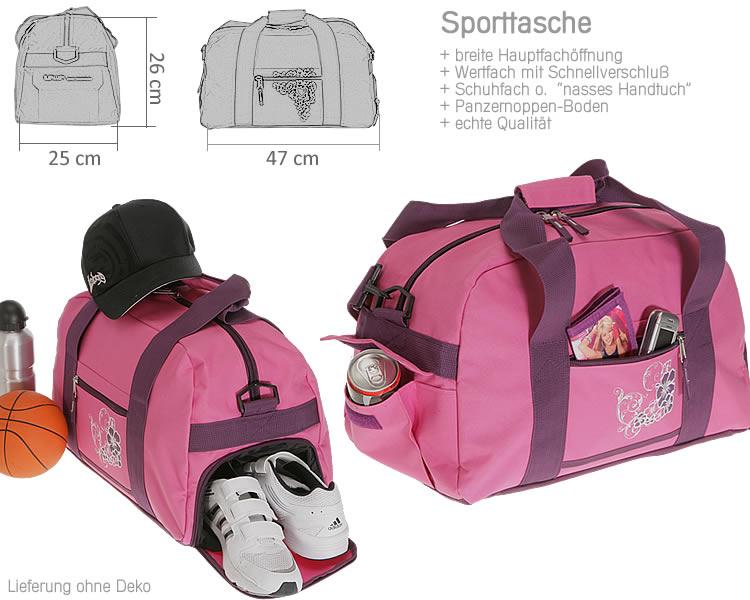sporttasche elephant flower sport tasche schulsporttasche. Black Bedroom Furniture Sets. Home Design Ideas