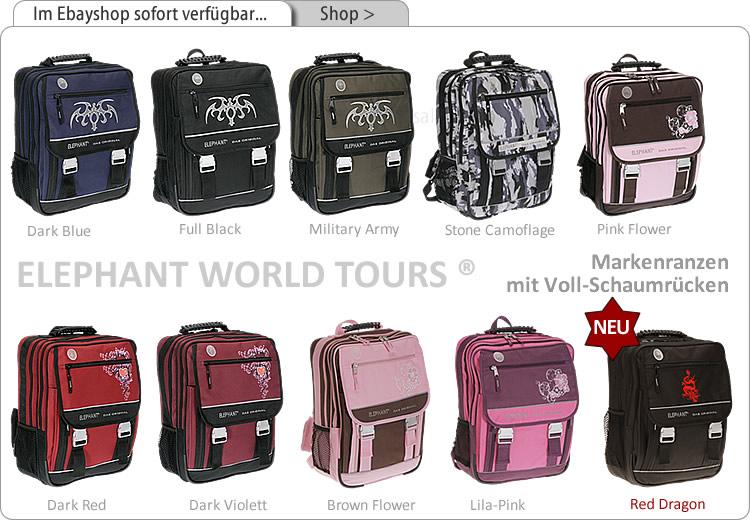 Im Ebayshop alle Farben = ELEPHANT Markenranzen > klick >