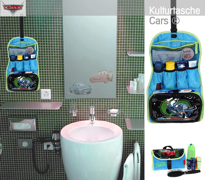 kulturtasche cars finn mcmissile kulturbeutel kindertasche. Black Bedroom Furniture Sets. Home Design Ideas