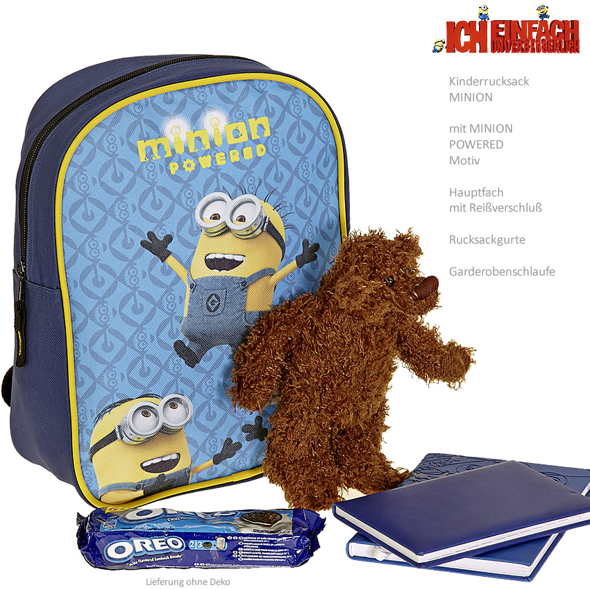 MINIONS Kindergartenrucksack  Rucksack Tasche NEU