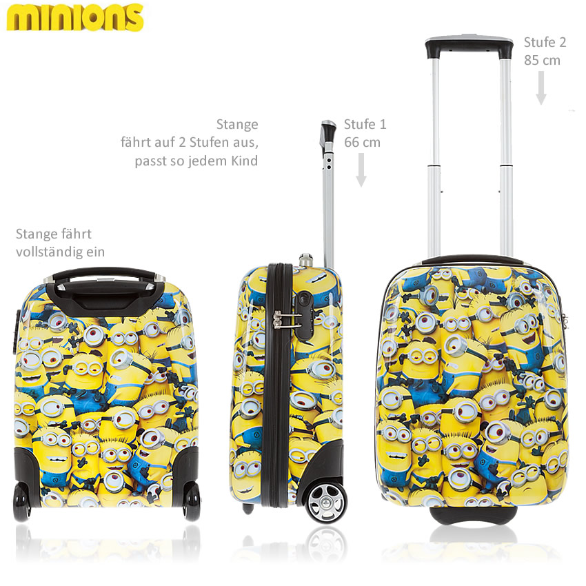 koffer minions hartschalenkoffer trolly hartschale minion kinderkoffer figur ebay. Black Bedroom Furniture Sets. Home Design Ideas