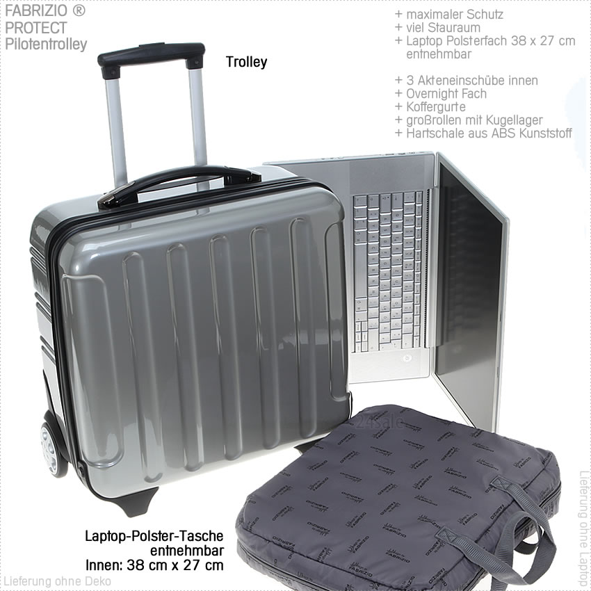 trolley fabrizio protect hartschale laptoptrolley. Black Bedroom Furniture Sets. Home Design Ideas