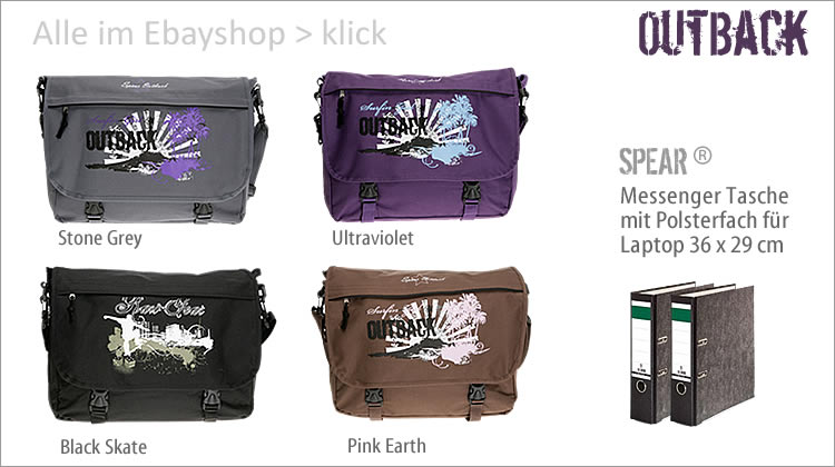 Alle OUT BACK Messenger LAptoptaschen sehen > klick >
