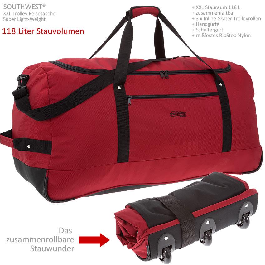 trolley southwest light weight xxl 80 cm faltbar bag. Black Bedroom Furniture Sets. Home Design Ideas