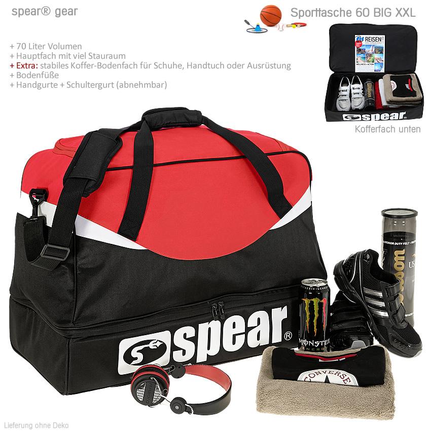 sporttasche spear big xxl 70 l fu ball handball basketball traithlon tasche rot ebay. Black Bedroom Furniture Sets. Home Design Ideas