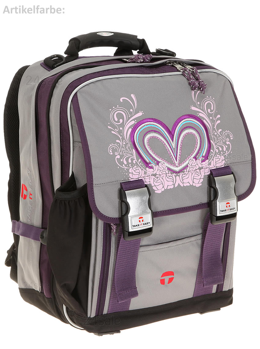 schulrucksack take it easy london lovely heart rucksack. Black Bedroom Furniture Sets. Home Design Ideas