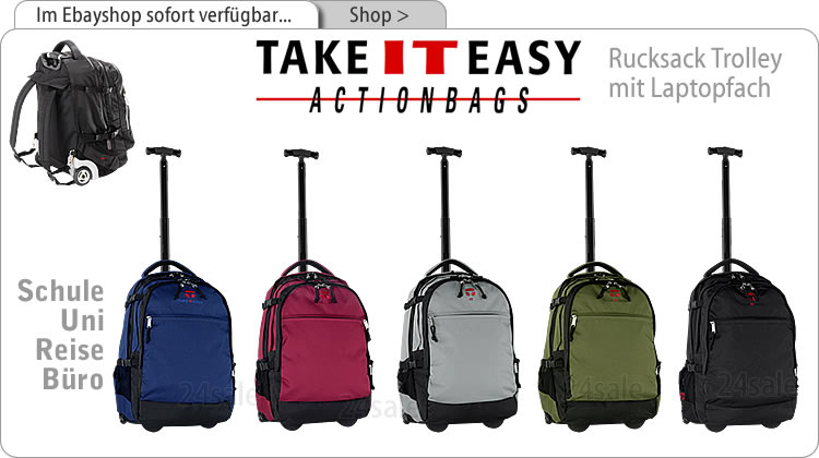 trolley basic take it easy schulrucksack trolly neu rot ebay. Black Bedroom Furniture Sets. Home Design Ideas