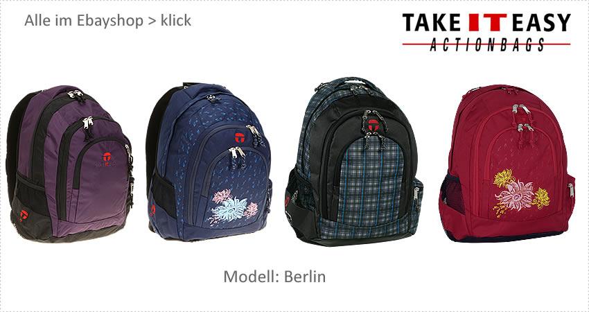rucksack take it easy berlin schulrucksack laptoprucksack. Black Bedroom Furniture Sets. Home Design Ideas