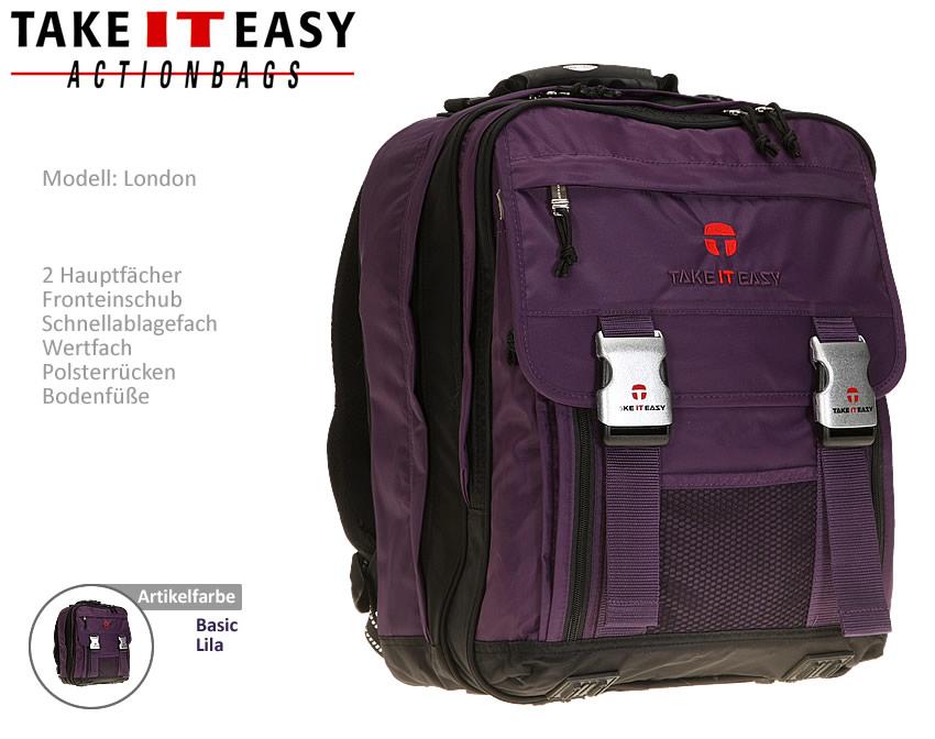 rucksack take it easy london schulrucksack schulranzen. Black Bedroom Furniture Sets. Home Design Ideas