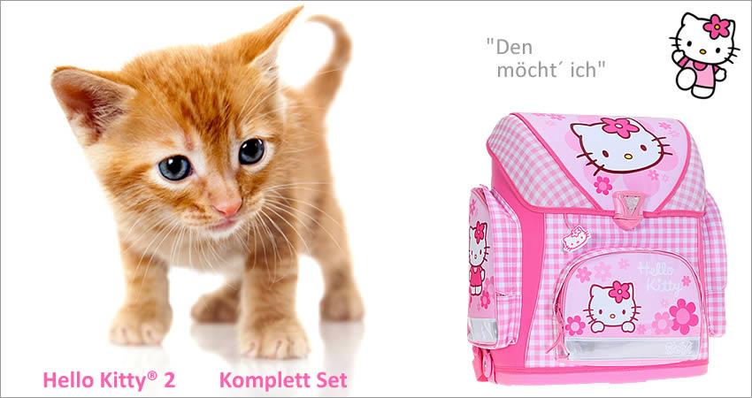 7 teile set hello kitty 2 schulranzen ranzen tornister trinkflasche rosa karo ebay. Black Bedroom Furniture Sets. Home Design Ideas